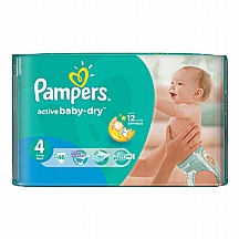 Pampers pelene Active baby Maxi, vel. 4, 7-14 kg, value pack, 46 kom