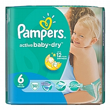 Pampers pelene Active baby XL, vel. 6, 15+ kg, value pack, 30 kom