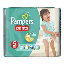 Pampers pelene Gaćice Junior vel. 5, 12-18 kg, carry pack, 22 kom