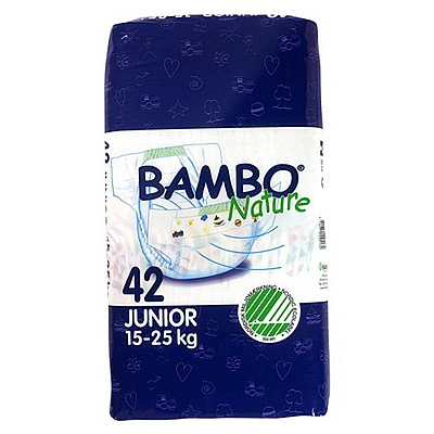 Bambo Nature pelene Junior, vel. 6, 15-25 kg, 42 kom