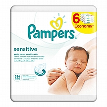Pampers vlažne maramice Sensitive, 6x56 kom