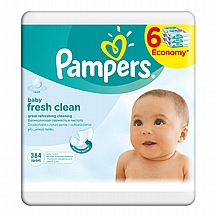 Pampers vlažne maramice Fresh Clean, 6x64 kom