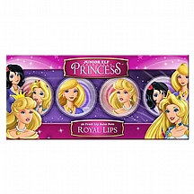 Set balzama za usne Princess 4x fruity lip balm pots