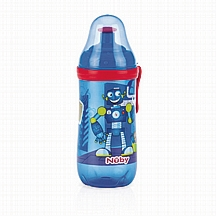 Nuby čaša sport s pop up nastavkom, plava, 18 m+, 360 ml