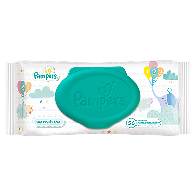 Pampers vlažne maramice Sensitive, 56 kom