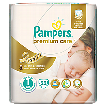 Pampers pelene Premium care Newborn, vel.1, 2-5 kg, 22 kom