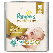 Pampers pelene Premium care Mini, vel.2, 3-6 kg, 22 kom