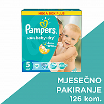 Pampers pelene Active baby Junior, vel. 5,11-18 kg, mega box plus, 126 kom