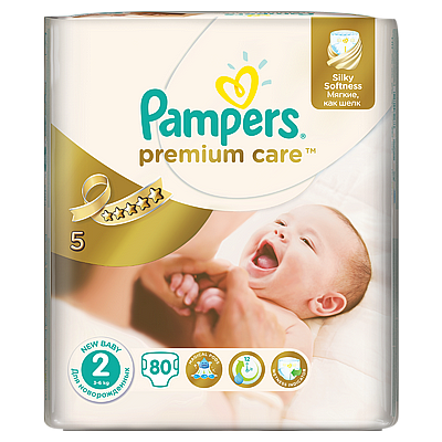 Pampers pelene Premium care Mini, vel. 2, 4-8 kg, 94 kom