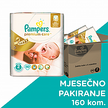 Pampers pelene Premium care Mini, vel.2, 3-6 kg, 160 kom