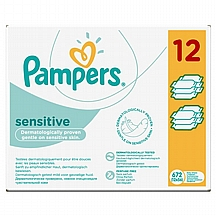 Pampers vlažne maramice Sensitive, 12x56 kom