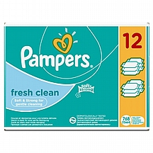 Pampers vlažne maramice Fresh Clean, 12x64 kom