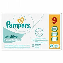 Pampers vlažne maramice Sensitive, 9x56 kom