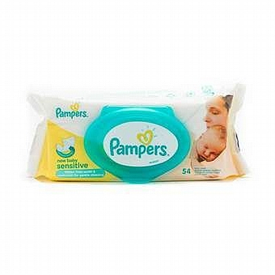 Pampers vlažne maramice New Baby Sensitive, 54 kom